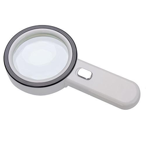 Extra Glass with 12 LED Lights,XYK Handheld Magnifier Macular Degeneration