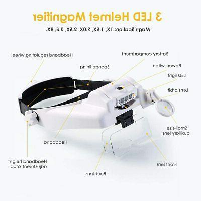 SOONHUA Magnifying Light Head Dental Loupe
