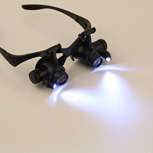 Magnifying Glasses Light - 25X High Eye Glasses Watch Jewelry