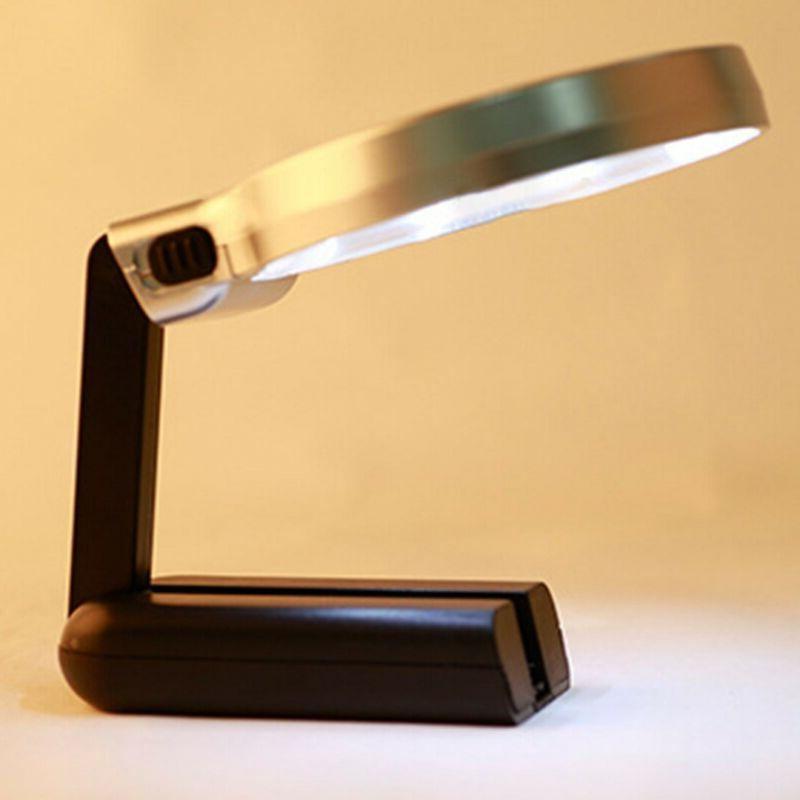 Magnifying Lamp Magnifier with Led Stand Folding USA