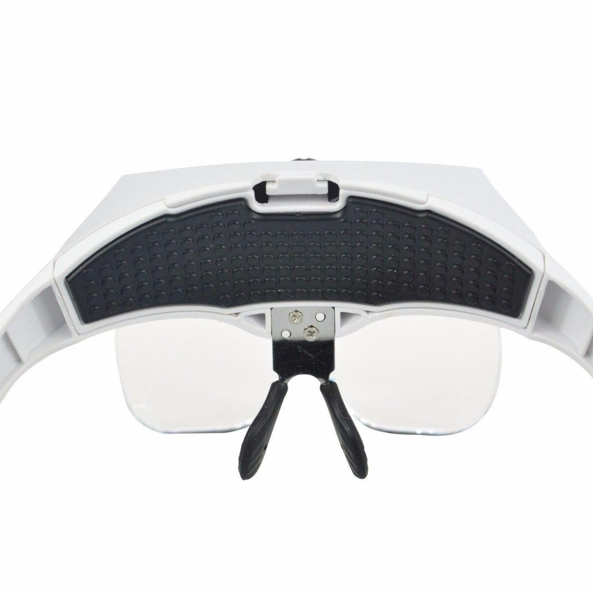 Magnifying Glass Light Visor Loupe Headband