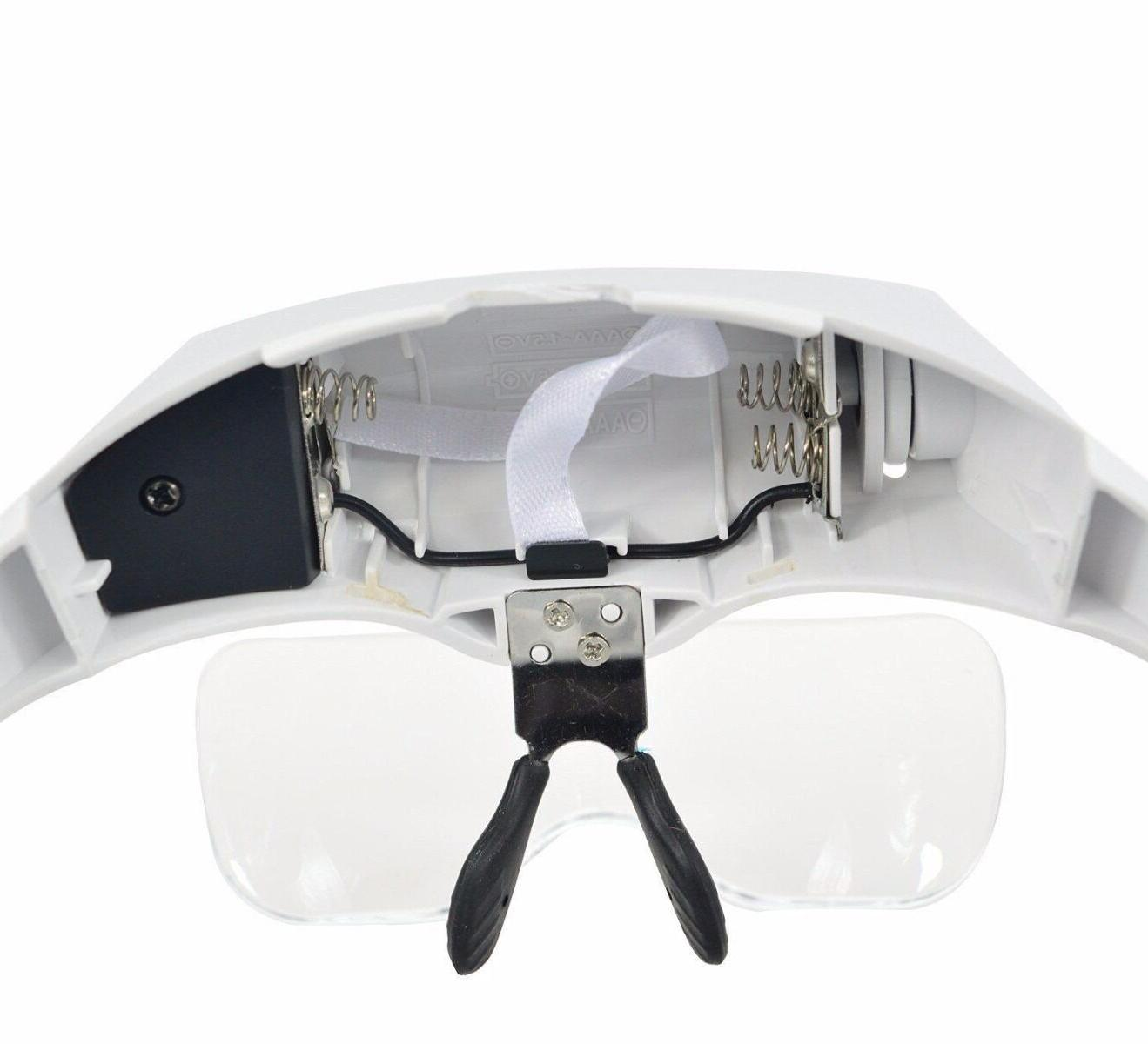 Magnifying Glass LED Light Lamp Loupe Jeweler Headband