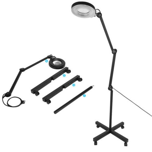 New 5X Glass Diopter Floor Stand Magnifying