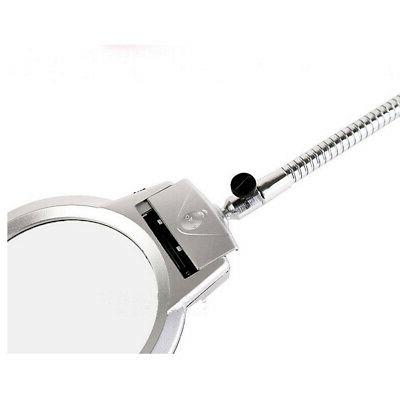 New LED Lens Lighted Top Desk Magnifier Magnifying Glass Clamp