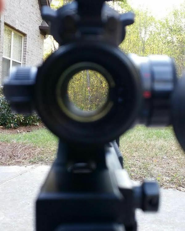 Red Dot Sight & 1.5 - 5x VARIABLE MAGNIFIER with FTS Mount e
