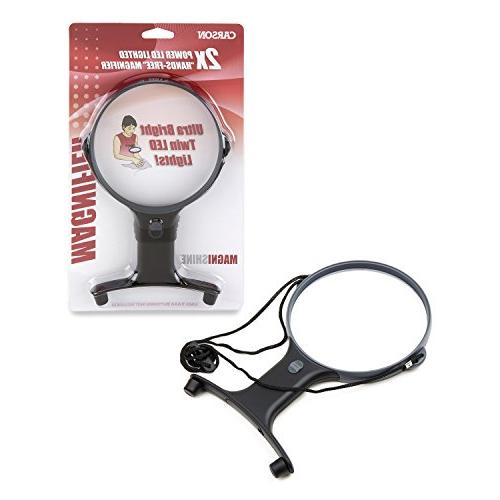 Carson Optical Lighted Power Hands-Free Magnifier