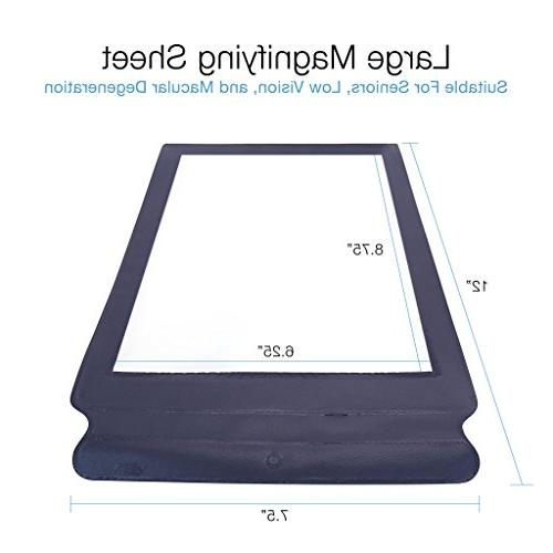 MagniPros Full Page Magnifying Sheet Magnifier- Entire at Reading Low Vision Seniors
