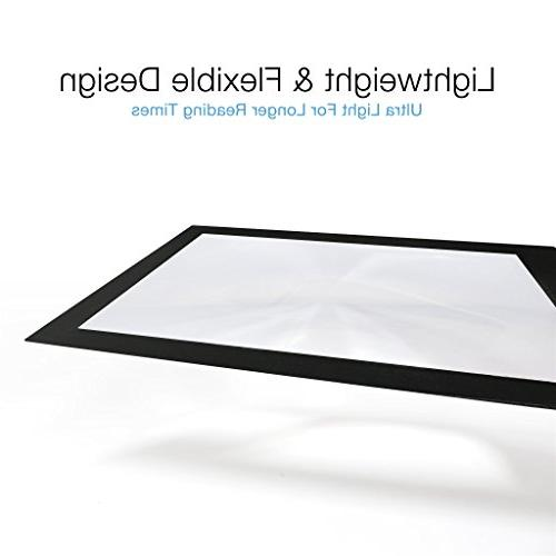Page Magnifier Magnifying Sheet with 3 Bookmark Magnifier- Magnifies Entire at Reading Low Vision Seniors