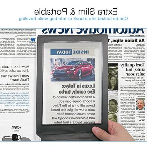 MagniPros Page Magnifier with Bookmark Magnifier- Magnifies Entire at Once Ideal for Reading & Vision Seniors