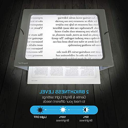 Magnifier Lights, Flip-Out Dual Power Supply Modes- Ideal Hands Reading, Low Vision, Seniors with