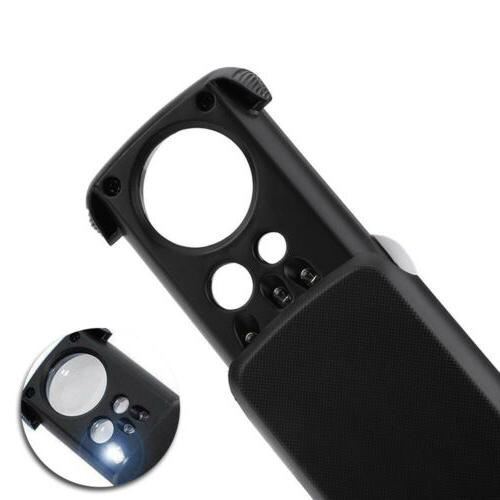 Pocket Magnifier Loupe With Led 30X 60X Out USA