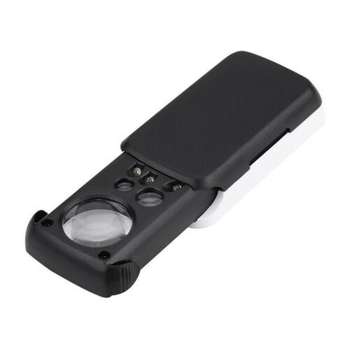 Pocket Magnifier Magnifying Loupe Led 30X 60X 90X Out USA