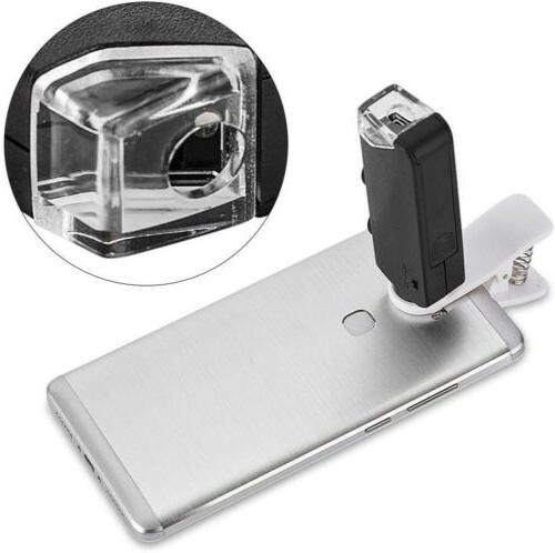 Portable Jewel Magnifier Loupe Phone Clamp USA