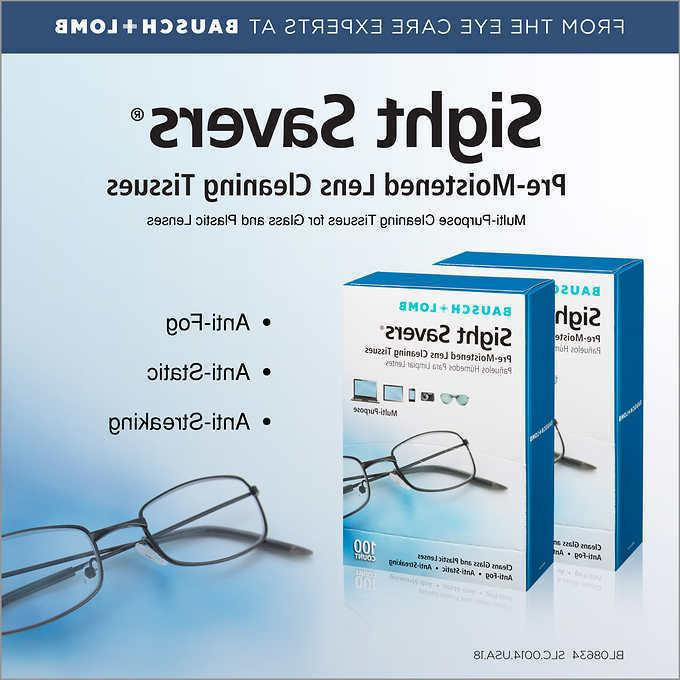 Bausch & Lomb Sight Savers Lens Cleaning Tissues 2 x 100 ct