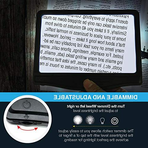 LED Magnifier with 12 Dimmable -Ideal for Prints & Vision