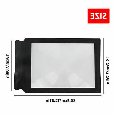 Magnifier Book Lens Glass A4 Sheet Page US