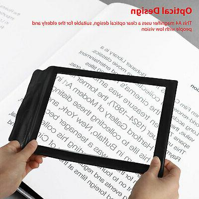Magnifier Reading Aid Lens 3X Glass Page