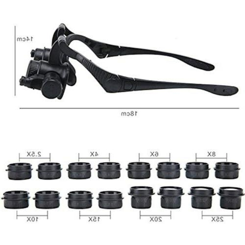 Beileshi Repair Loupe Magnifying Glasses Tool Set ABCD
