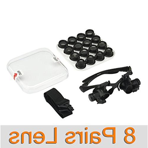 Beileshi Watch Repair Loupe Tool Set with Light