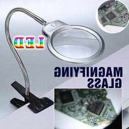 Large Desk Magnifier LED Lamp with clip LED  Magnifying Glas