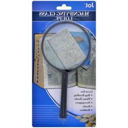 "Large Hand Held Magnifying Glass Loupe 7""x3.5"" - For reading"