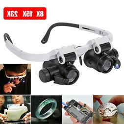Led Head Magnifying Glasses Headset With Light Hands Free He