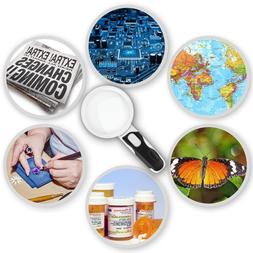 iMagniphy LED Illuminated Magnifying Glass Set. Best Magnifi
