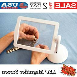 LED Screen Page Magnifier Brighter Reading Viewer Screen Lou
