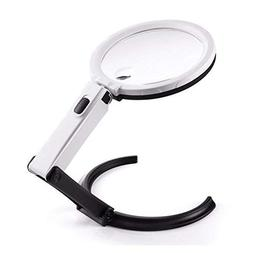 Magnifying Glass with Light, 1.8X 5X Portable Foldable Ultra