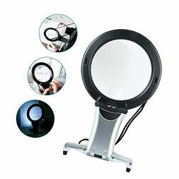 Lighted 6X/2X Magnifying Glass for Close Work,SOONHUA Readin