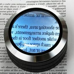 WITHit Lighted Dome Magnifier - Aluminum 3 LED Lighted Readi