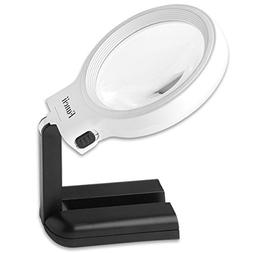 Fancii LED Lighted Hands Free Magnifying Glass with Light St