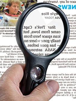SeeZoom Lighted Magnifying Glass 3x 45x magnifier lens - Han