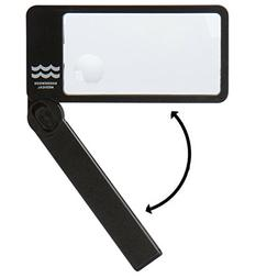 Lighted Magnifying Glass Reading Magnifier: Bright LED Light