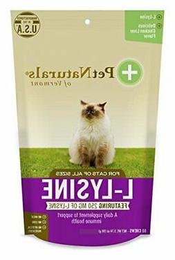 Pet Naturals of Vermont L-Lysine 60 Fun-Shaped Chews for Cat