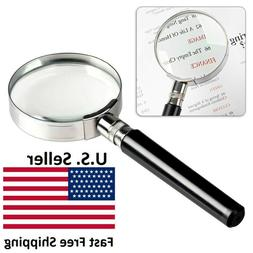 10X Magnification Handheld Magnifier Magnifying Glass Handle