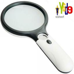 Magnifier 3 LED Light Marrywindix 3X 45X Handheld Reading Ma
