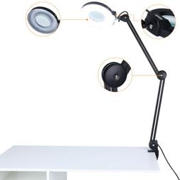 Magnifier 5x Diopter Desk Table Clamp Mount Lamp Light Magni