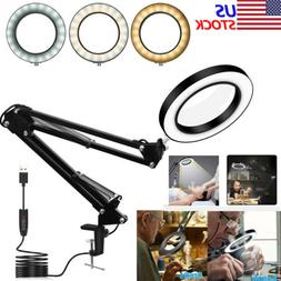 magnifier led lamp 5x magnifying glass desk