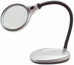 LED Magnifiers Desk Flex with Bifocal, 4 in. lens 2X