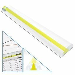 "6"" Magnifying Bar Magnifier Ruler with Yellow or Orange Guid"
