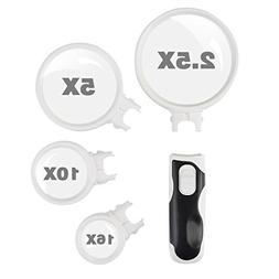 Magnifying glass with LED Lights,Includes 4 Lens Handheld ma