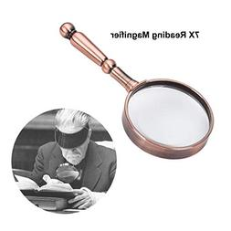 Magnifying Glass 7X Handheld Reading Magnifier - 75MM Magnif