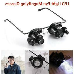 Magnifying Glass LED Light Head Loupe Jeweler Watch Bright M