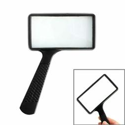 magnifying glass loupe handheld rectangular 3x magnifier