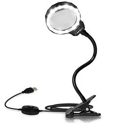 Number-One Magnifying Glass, 3X LED Lighted Magnifying Lamp