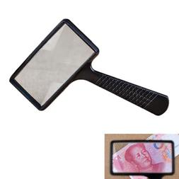 magnifying real glass10x magnifier handheld rectangular read
