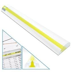 MagniPros 2X Magnifying Bar Magnifier Ruler with Guide Line(