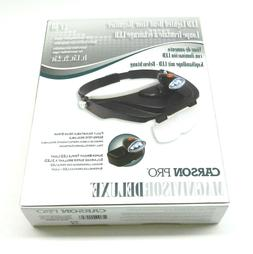 Magnivisor Head Band Visor Magnifier - Lighted Led + 4 Lense