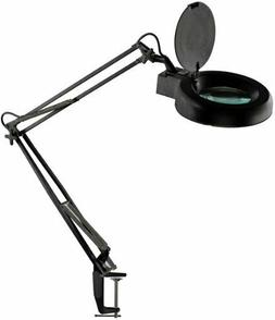 """MC329B-F2X 5"""" Illuminated Magnifier Table Lamp with Table Cl"""